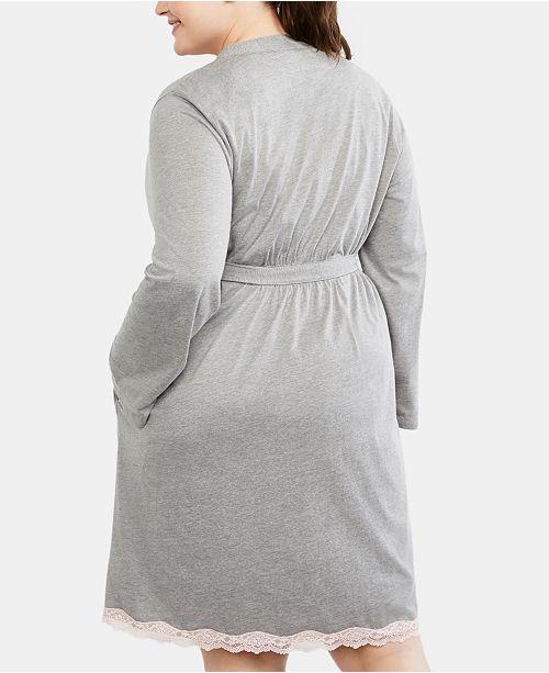 6e39183575 Motherhood Maternity Plus Size Nursing Nightgown   Robe   Reviews ...