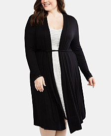 Motherhood Maternity Plus Size Belted Robe