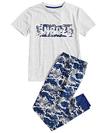 Max & Olivia Little & Big Boys 2-Pc. Camouflage Pajamas Set