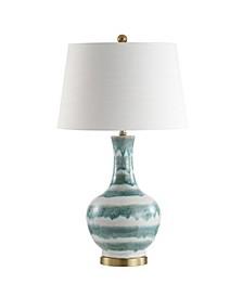 Tucker Striped Ceramic/Metal LED Table Lamp