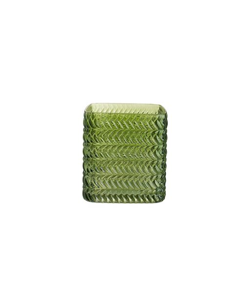 Design Ideas Greenwich Vase, Herringbone, Large