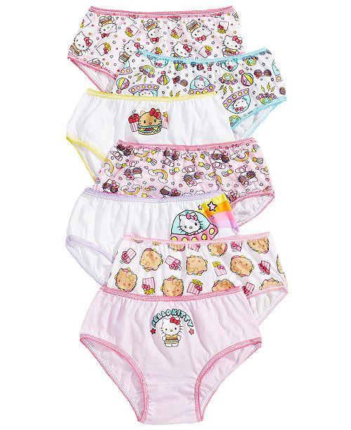 Disney Hello Kitty 7-Pack Cotton Underwear, Little Girls & Big Girls