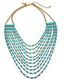 "Thalia Sodi Gold-Tone Stone Multi-Row Statement Necklace, 18"" + 3"" extender, Created for Macy's"