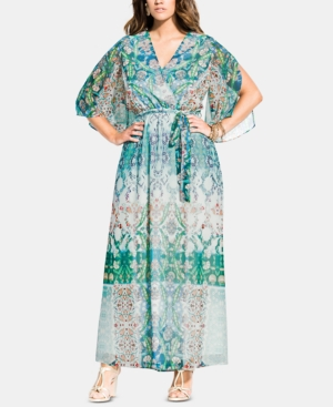 City Chic Dresses TRENDY PLUS SIZE ISTANBUL PRINTED MAXI DRESS