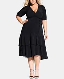 City Chic Trendy Plus Size Delight Wrap Dress