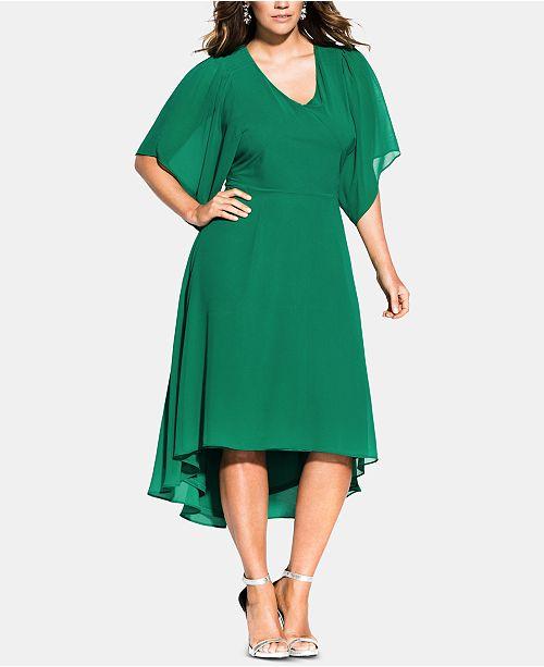 City Chic Trendy Plus Size Adore Batwing Dress & Reviews ...