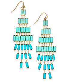Thalia Sodi Gold-Tone Ombré Bead Drop Earrings, Created for Macy's