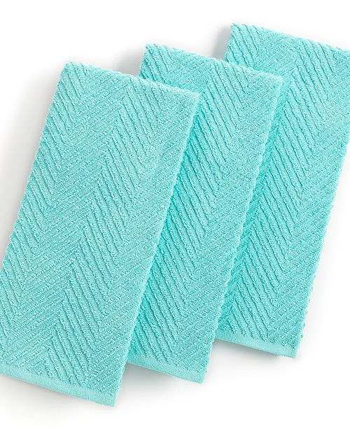 Martha Stewart Kitchen Towels: Martha Stewart Collection Aqua Kitchen Towels, Set Of 3