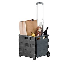 Fold-Up Rolling Storage Cart with Handle