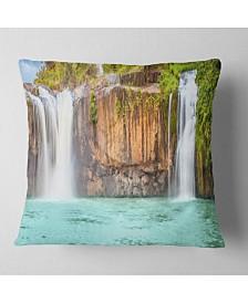 "Designart 'Dry Sap Waterfall' Photography Throw Pillow - 26"" x 26"""
