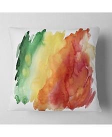 "Designart 'Color Explosion' Abstract Throw Pillow - 26"" x 26"""