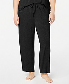 Plus Size Ribbed Knit Pajama Pants, Created for Macy's