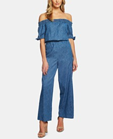 CeCe Off-The-Shoulder Wide-Leg Jumpsuit