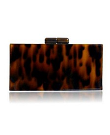 Tortoise Acrylic Clutch Bag by The Workshop at Macy's