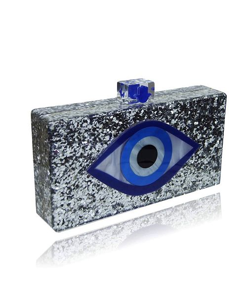 Milanblocks Evil Eye Lucite Acrylic Box Clutch by The Workshop at Macy's