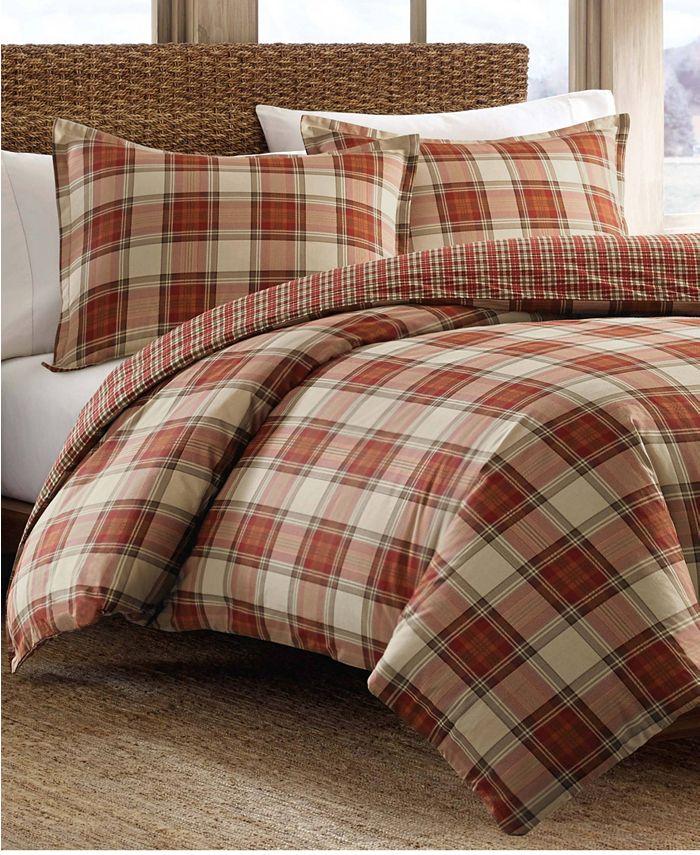 Eddie Bauer - Edgewood Plaid Multi Red Comforter Set, King