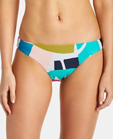 Raisins Juniors' South Pacific Printed Bikini Bottoms