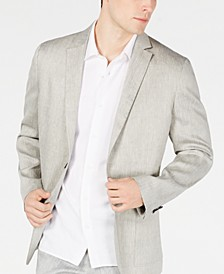 Men's Herringbone Stretch Linen Blazer, Created for Macy's