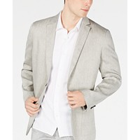 Deals on Alfani Mens Herringbone Stretch Linen Blazer