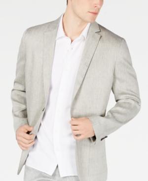 Alfani Men's Herringbone Stretch Linen Blazer, Created for Macy's