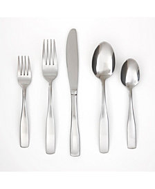 Cambridge Madison Satin 60-Piece Flatware Set with Chrome Buffet, Service for 12