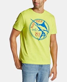 Nautica Men's Big & Tall Fish Myrtle Beach Logo Graphic T-Shirt