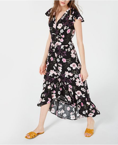 3ed0505e7365 American Rag Juniors' Floral-Print High-Low Maxi Dress, Created for Macy's  ...