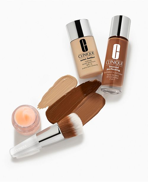 Clinique Receive a FREE 2 pc. Perfect Canvas Kit with any Clinique foundation purchase!