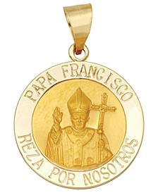 Papa Francisco Medal Pendant in 14k Yellow Gold