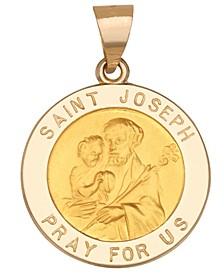 Saint Joseph Medal Pendant in 14k Yellow Gold