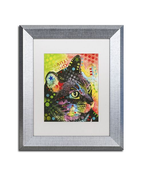 """Trademark Global Dean Russo 'What Was That' Matted Framed Art - 14"""" x 11"""" x 0.5"""""""