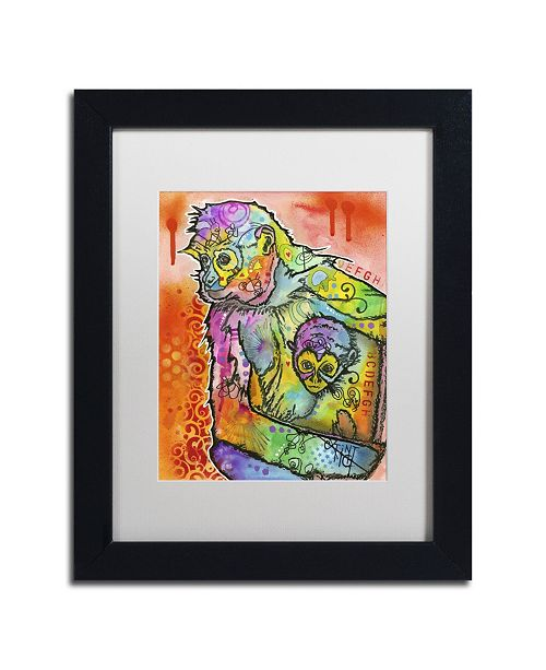 "Trademark Global Dean Russo 'Monkey 1' Matted Framed Art - 11"" x 14"" x 0.5"""