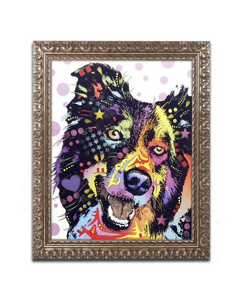 "Trademark Global Dean Russo 'Border Collie' Ornate Framed Art - 20"" x 16"" x 0.5"""