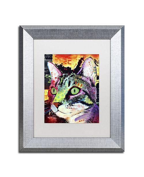 """Trademark Global Dean Russo 'Curiosity Cat' Matted Framed Art - 14"""" x 11"""" x 0.5"""""""