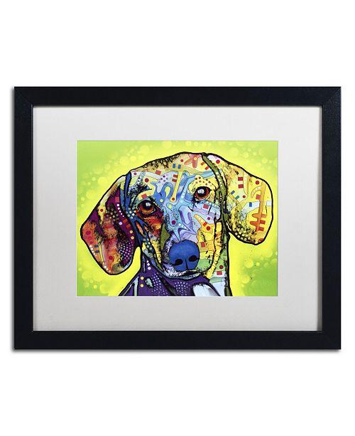"Trademark Global Dean Russo 'Dachshund' Matted Framed Art - 16"" x 20"" x 0.5"""