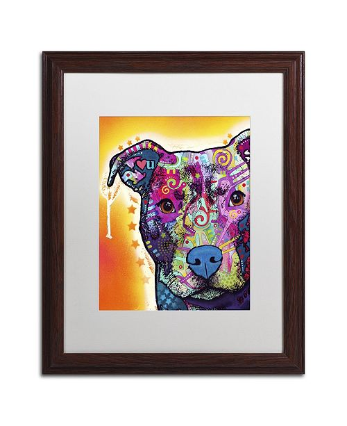 "Trademark Global Dean Russo 'Heart U Pit Bull' Matted Framed Art - 20"" x 16"" x 0.5"""