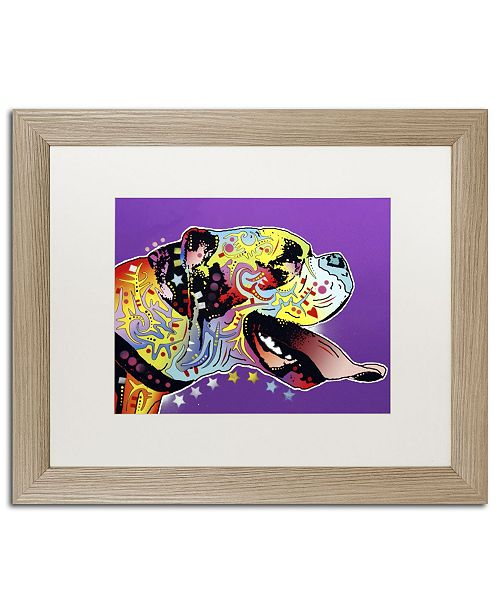 """Trademark Global Dean Russo 'Happy Boxer' Matted Framed Art - 20"""" x 16"""" x 0.5"""""""