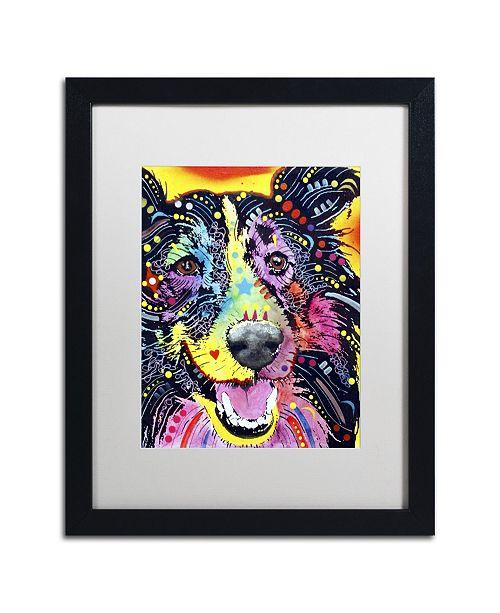 """Trademark Global Dean Russo 'Sheltie' Matted Framed Art - 16"""" x 20"""" x 0.5"""""""