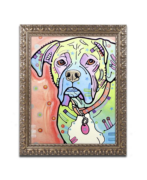 "Trademark Global Dean Russo 'The Boxer' Ornate Framed Art - 20"" x 16"" x 0.5"""