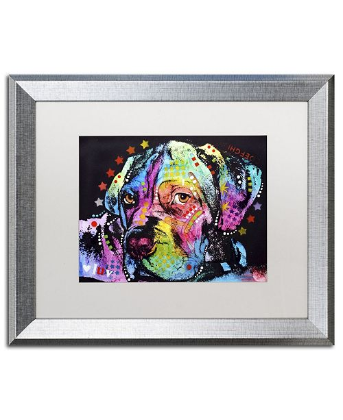 """Trademark Global Dean Russo 'Young Mastiff' Matted Framed Art - 20"""" x 16"""" x 0.5"""""""