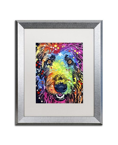 "Trademark Global Dean Russo 'Irish Wolfhound' Matted Framed Art - 20"" x 16"" x 0.5"""