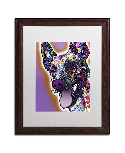 "Trademark Global Dean Russo 'Malinois' Matted Framed Art - 20"" x 16"" x 0.5"""