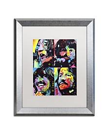 """Dean Russo 'Beatles' Matted Framed Art - 20"""" x 16"""" x 0.5"""""""