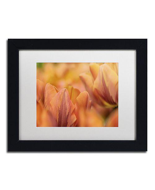 "Trademark Global Cora Niele 'Orange Tulips' Matted Framed Art - 11"" x 14"" x 0.5"""
