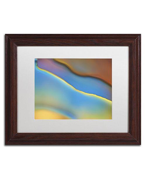 "Trademark Global Cora Niele 'Blue Flow' Matted Framed Art - 14"" x 11"" x 0.5"""