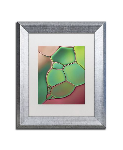 "Trademark Global Cora Niele 'Stained Glass V' Matted Framed Art - 14"" x 11"" x 0.5"""