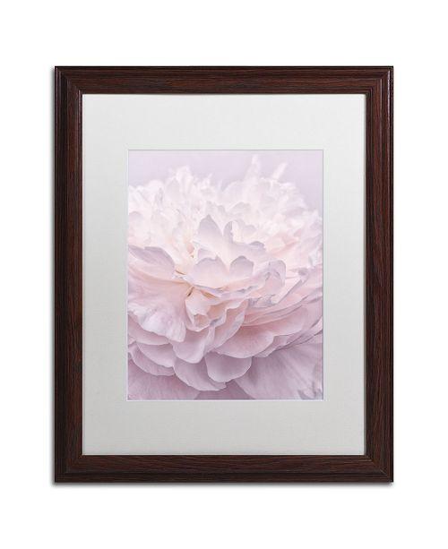 "Trademark Global Cora Niele 'Pink Peony Petals I' Matted Framed Art - 20"" x 16"" x 0.5"""