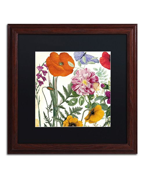 "Trademark Global Color Bakery 'Printemps II' Matted Framed Art - 16"" x 0.5"" x 16"""