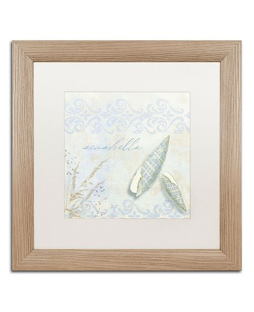 "Trademark Global Color Bakery 'She Sells Seashells II' Matted Framed Art - 16"" x 0.5"" x 16"""