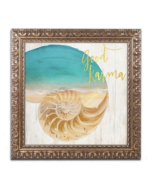 "Trademark Global Color Bakery 'Sea In My Hand' Ornate Framed Art - 16"" x 0.5"" x 16"""